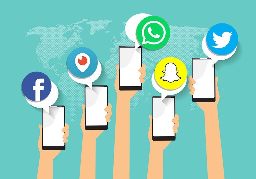 redes sociales para Internet
